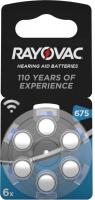 Rayovac Hörgerätebatterie 675 -PR44- 6er Blister