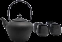 0redemeijer Geschenkset Chengdu Teekanne mit 4 Teebechern 153006